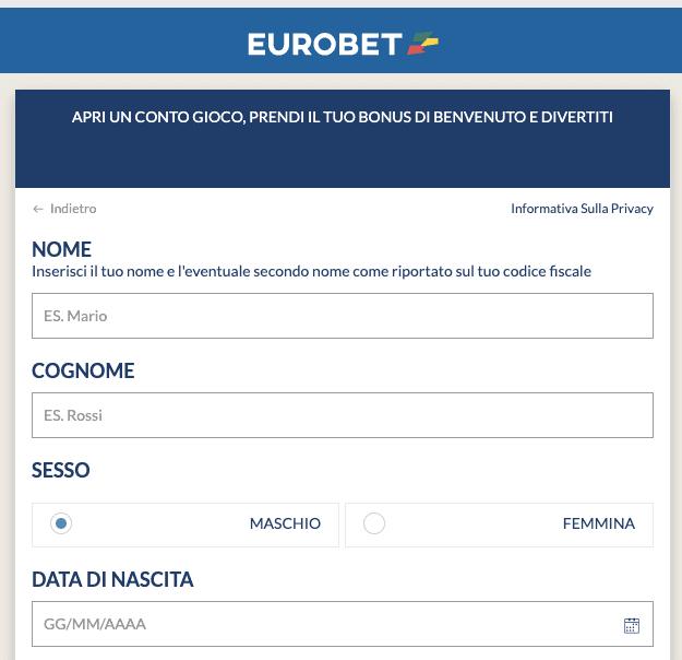 Eurobet registrati