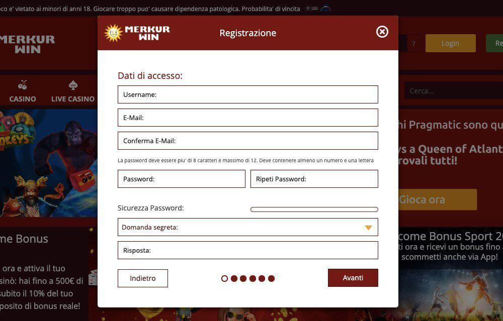merkurwin casino registrazione