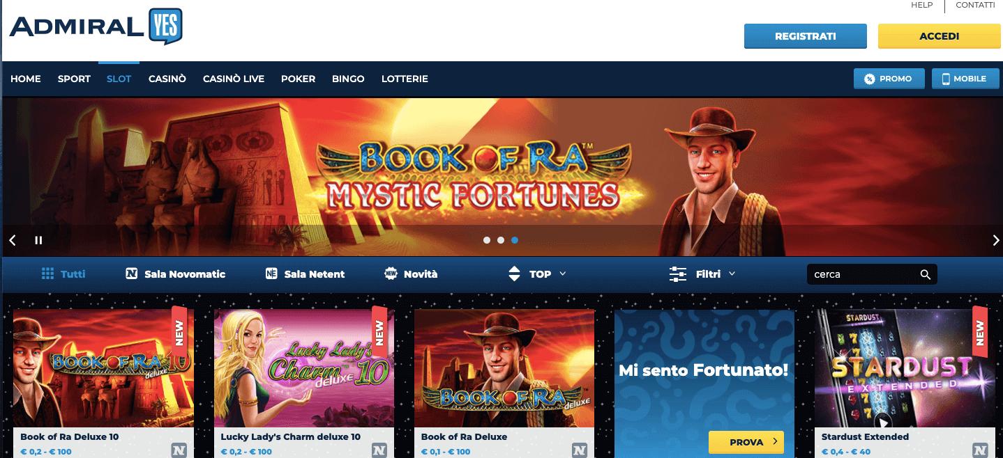 SlotYes homepage