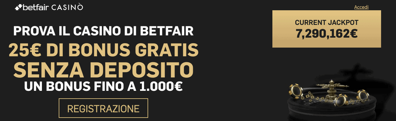 Betfair Casino welcome bonus