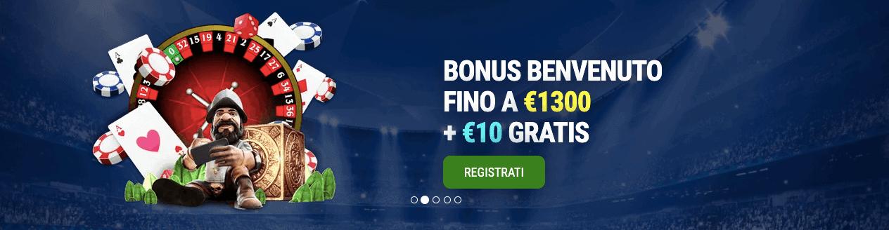 BetNero Casino bonus benvenuto