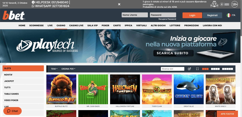 BBet Casino homepage