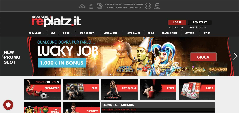 Replatz Homepage
