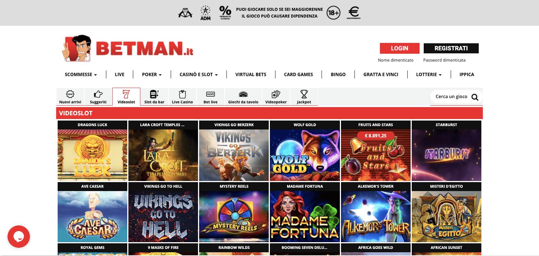 Betman Casino Homepage