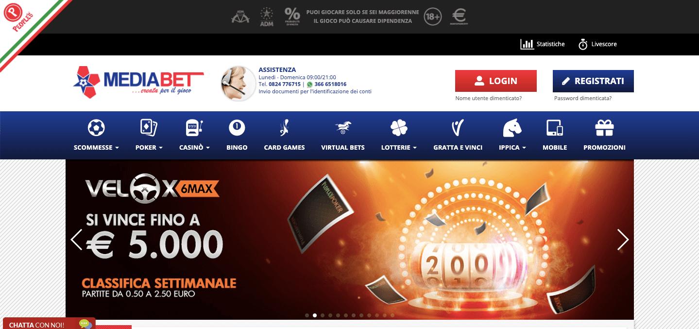 Mediabet Homepage