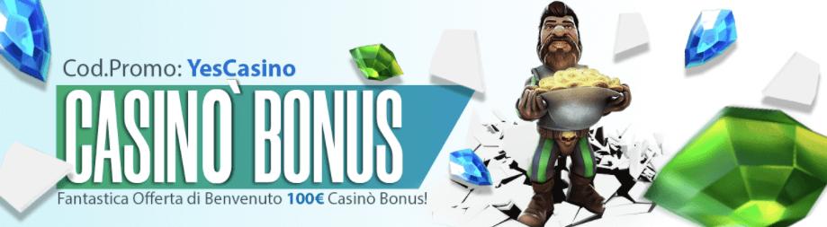 Staryes Bonus Benvenuto
