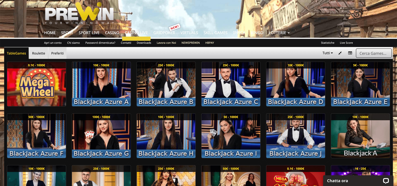 Prewin Casino Slot Live